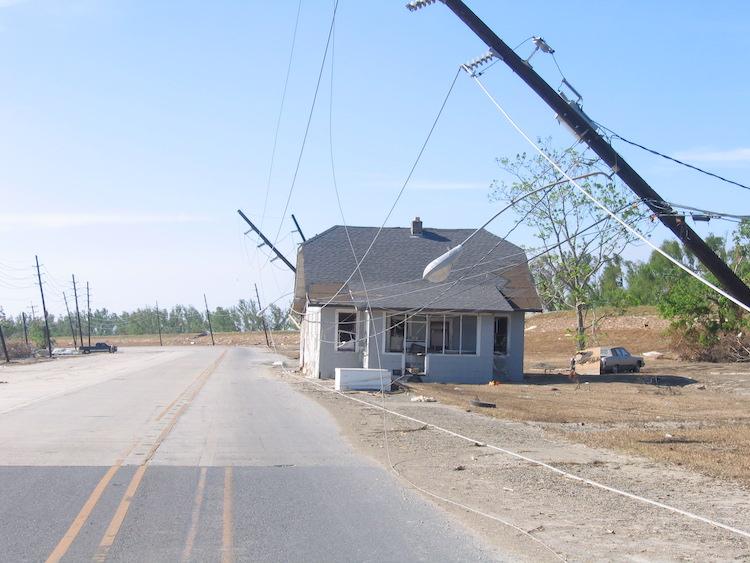 Katrina house power pole 1