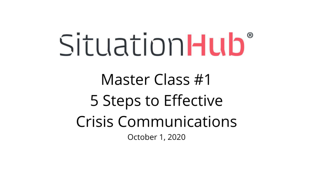 Master Class Oct 2020