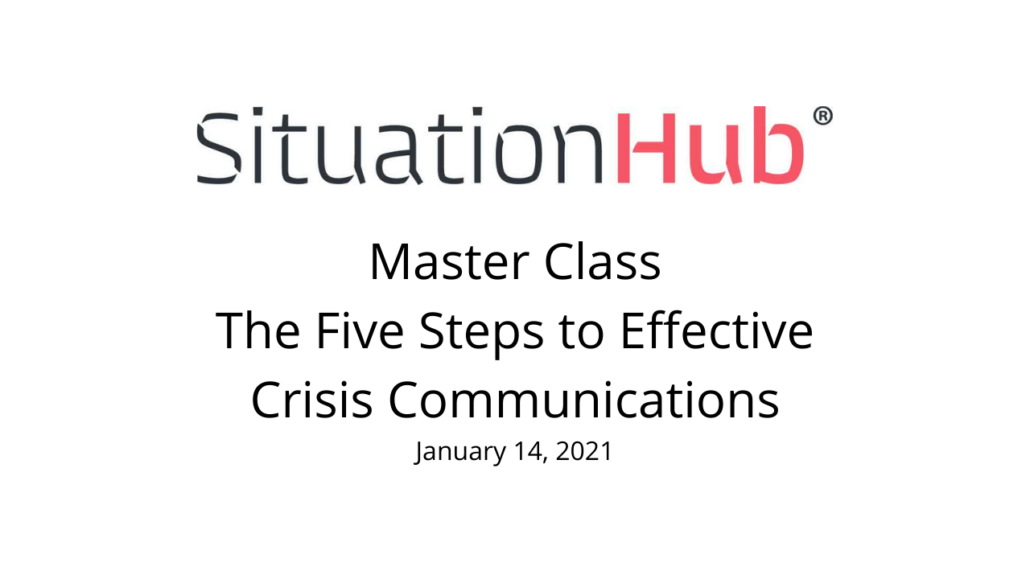 Viewing - Crisis Communications Master Class: 5 Effeective Steps